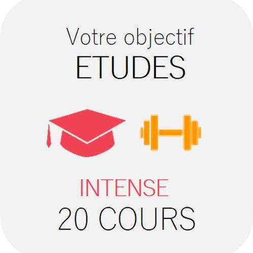 ETUDES - Intense 20 cours