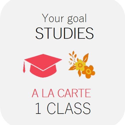 STUDIES - à la carte 1 class