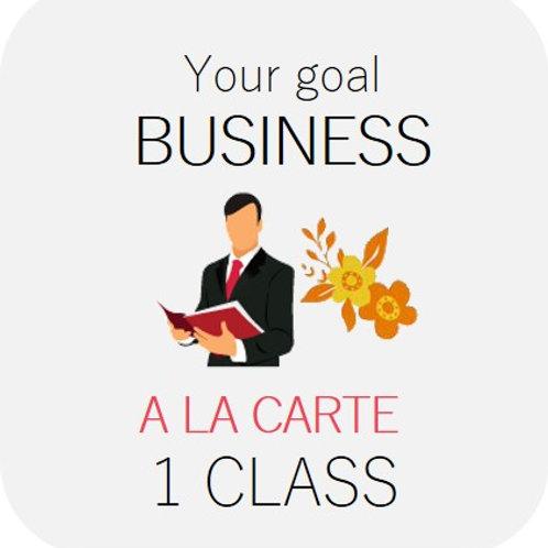 BUSINESS - A la carte 1 class