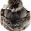 Thumbnail: Casual lammeskinnslue med Toscana lammepels og dusk - brunsort