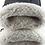 Thumbnail: Hjorteskinnshansker med lammepels herre - sort