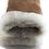 Thumbnail: Semskede lammeskinnshansker med lammepels herre - kamel-farge