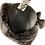 Thumbnail: Røros lammeskinnslue - mørkbrun m/ gråsort Toscana lammepels