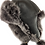Thumbnail: Røros lammeskinnslue - sort m/ gråsort Toscana lammepels