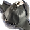Thumbnail: Røros lammeskinnslue - mørkbrun m/ gråblå Toscana lammepels