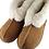 Thumbnail: Lammeskinnstøfler med lammepels m/ såle - chestnut