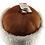 Thumbnail: Casual lammeskinnslue - Brun m/ hvit krøllet lammepels
