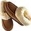 Thumbnail: Lammeskinnstøfler med lammepels - chestnut