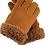 Thumbnail: Semskede lammeskinnshansker med lammepels herre - chestnut
