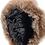 Thumbnail: Røros lammeskinnslue - brun m/ gråbrun Toscana lammepels