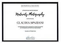 Diploma Maternity Donatella Nicolini