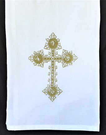 CROSS TEA TOWEL GOLD