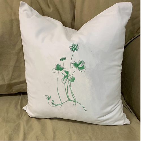 CLOVER SHAMROCK PILLOW WITH FEATHER INSERT