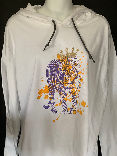 TIGER WITH CROWN HOODIE T- SHIRT