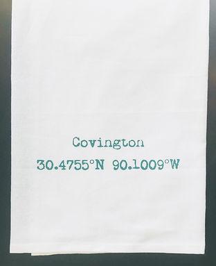 COVINGTON COORDINATES TEA TOWEL AQUA