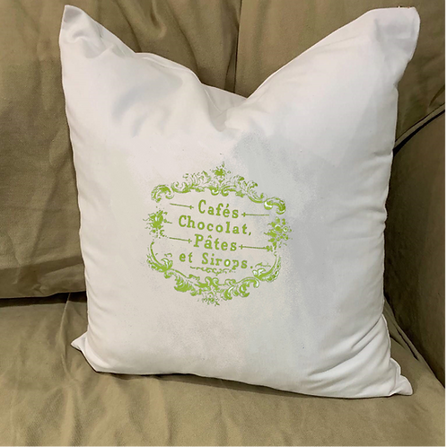 FRENCH CANDIES PILLOW WITH FEATHER INSERT