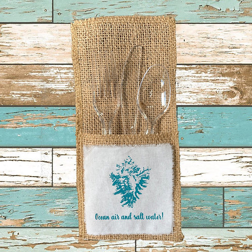 OCEAN AIR AND SALT WATER CUTLERY POUCHES  Pack of 8