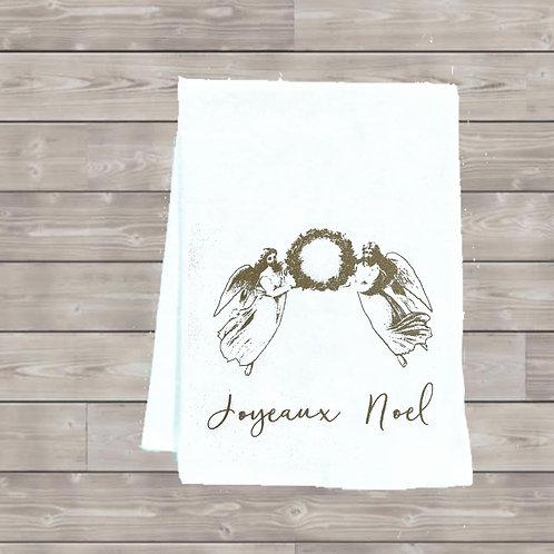 JOYEAUX NOEL ANGELS TEA TOWEL