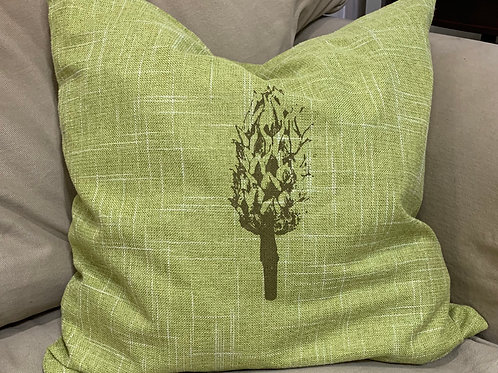 Magnolia Seed Pod Pillow with feather insert