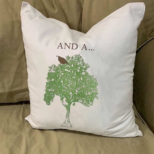 AND A.....     ( PARTRIDGE  IN A PEAR TREE ) PILLOW WITH FEATHER INSERT