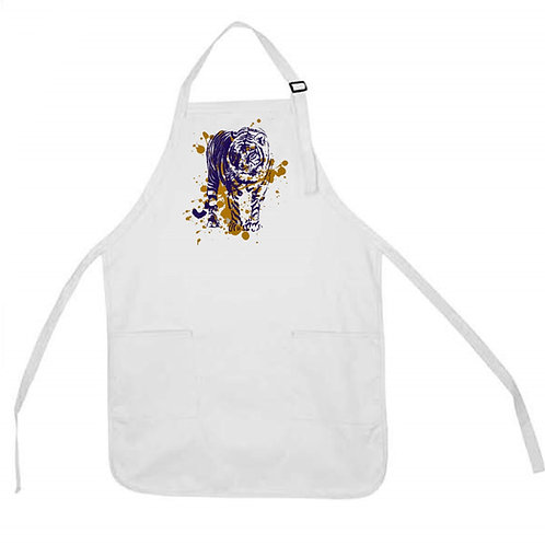 TIGER WITH SPLATTER APRON