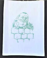 HUMPTY DUMPTY TEA TOWEL / BURP CLOTH AQUA