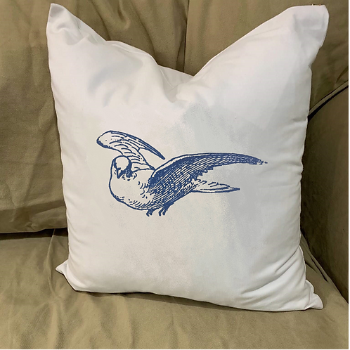 DOVE PILLOW WITH FEATHER INSERT