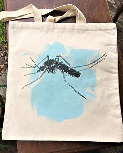 MOSQUITO TOTE LIGHT BLUE & BROWNISH GREY