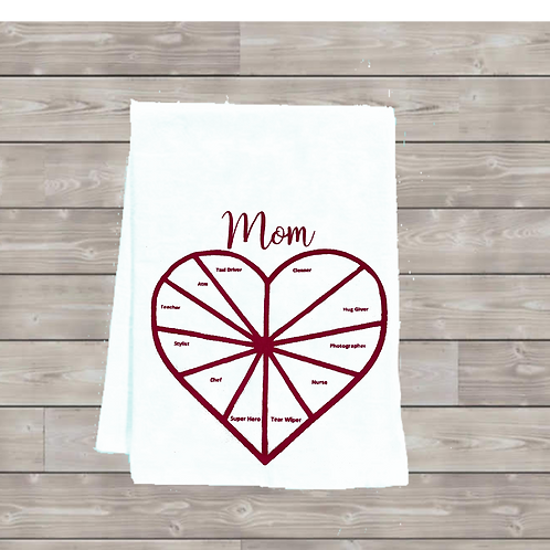 MOM PIE CHART TEA TOWEL