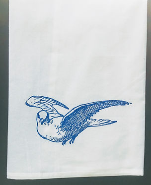 DOVE TEA TOWEL BLUE