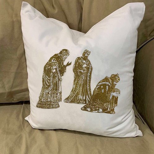 WISEMEN THREE KINGS 2019PILLOW WITH FEATHER INSERT