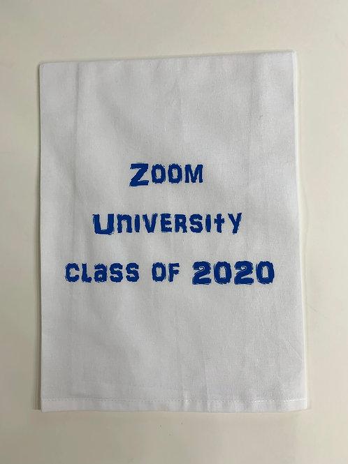 working from home tea towel, working from home struggles, zoom learning curve, covid 19 tea towel, corona tea towel