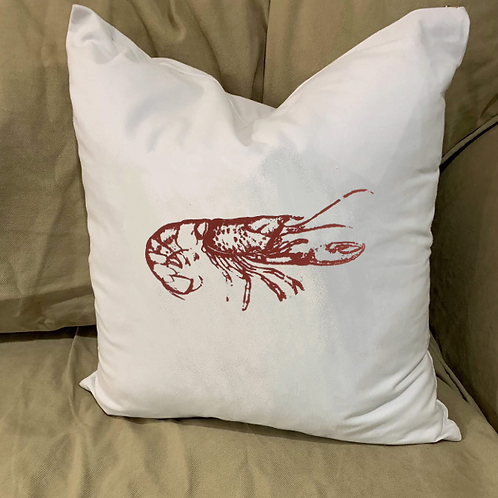 CRAWFISH PILLOW WITH FEATHER INSERT