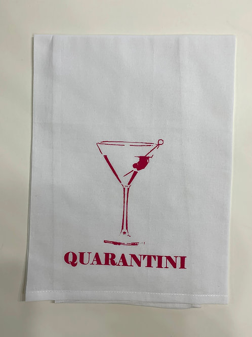 quarantine martini tea towel, covid 19 tea towel, corona tea towel, day drinking tea towel, quarantine drinking tea towel,