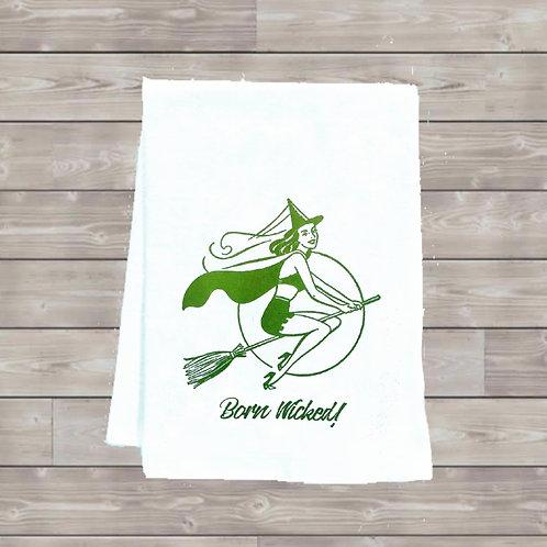 BORN WICKED! TEA TOWEL