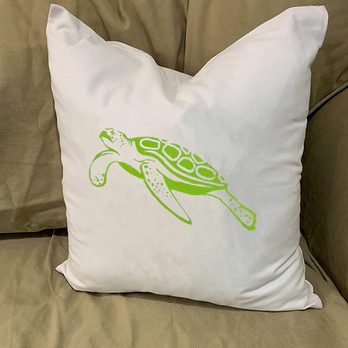 SEA TURTLE PILLOW WITH FEATHER INSERT