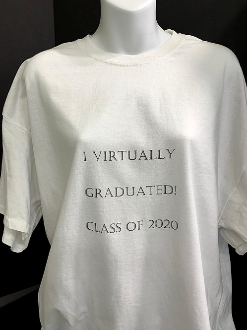 #virtuallygraduated, class of 2020, zoom graduation, tee shirt, corona graduation,