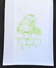 HUMPTY DUMPTY TEA TOWEL / BURP CLOTH LIME