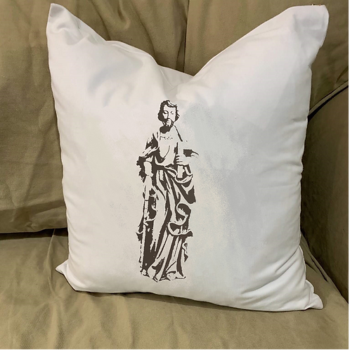 ST JOSEPH PILLOW WITH FEATHER INSERT