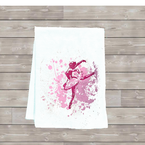 BALLERINA WITH SPLATTER TEA TOWEL