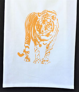 TIGER TEA TOWEL GOLD