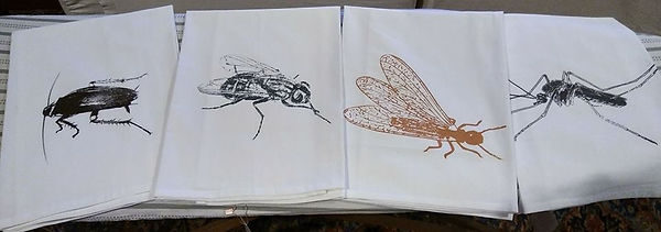 COCKROACH, FLY, FORMOSAN TERMITE, & MOSQUITO TEA TOWELS 