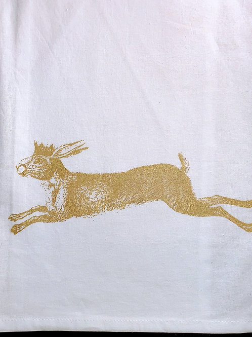 Cottontail With Crown Tea Towel