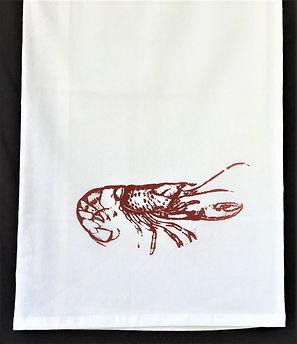 CRAWFISH TEA TOWEL RED