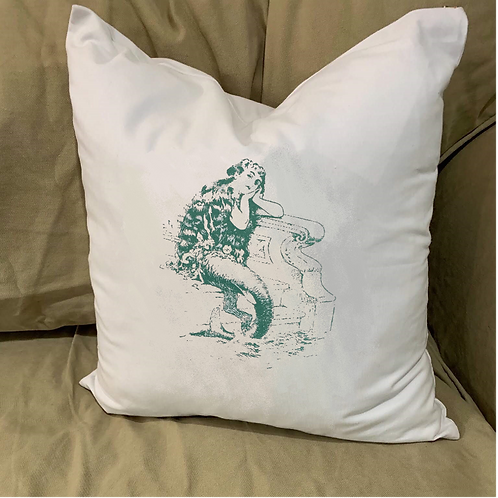 MERMAID  PILLOW WITH FEATHER INSERT
