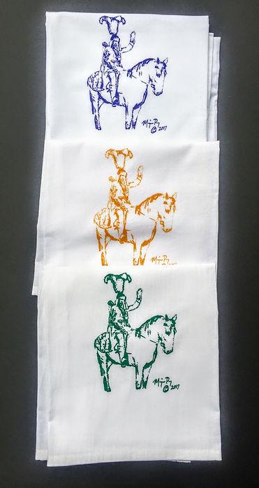 LIEUTENANTS ON HORSEBACK PARADE MARDI GRAS TEATOWEL