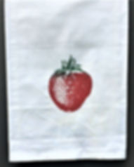 LOUISIANA STRAWBERRY TEA TOWEL RED & GREEN