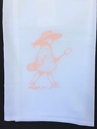 SALLY BY THE SEA TEA TOWEL PINK