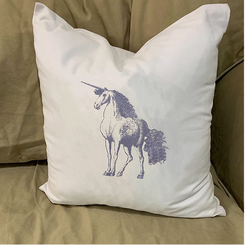 UNICORN PILLOW WITH FEATHER INSERT