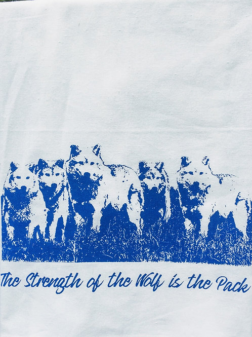 WOLF PACK TEA TOWEL,TOTE, APRON, T-SHIRT